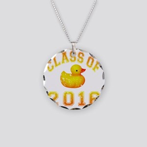 CO2016 Rubber Duckie Orange  Necklace Circle Charm