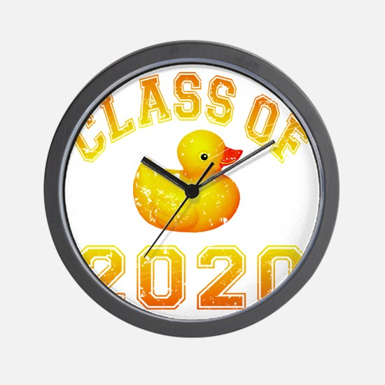 CO2020 Rubber Duckie Orange Red Distres Wall Clock