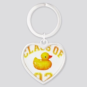 CO2020 Rubber Duckie Orange Red Dis Heart Keychain