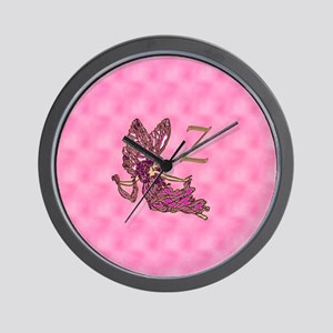 Fairy Monogram A Stamps Z Wall Clock