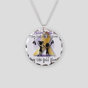 goldGloveLogo Necklace Circle Charm