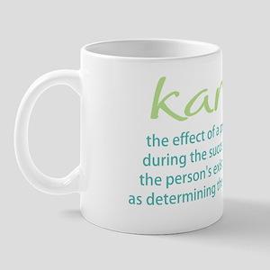 karma-gray-blue-green-2011 Mug