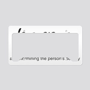 karma-blk-text-2011 License Plate Holder