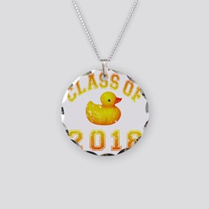 CO2018 Rubber Duckie Orange  Necklace Circle Charm