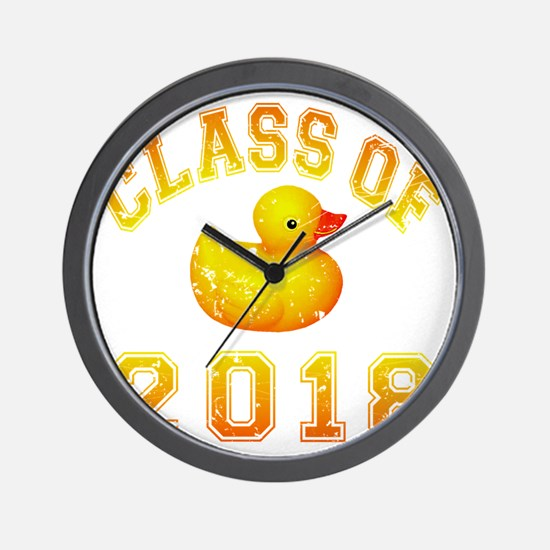 CO2018 Rubber Duckie Orange Red Distres Wall Clock