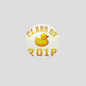 CO2018 Rubber Duckie Orange Red Distre Mini Button