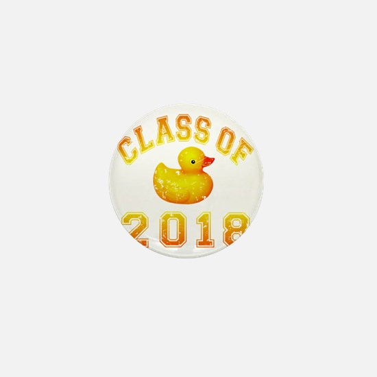 CO2018 Rubber Duckie Orange Red Distre Mini Button