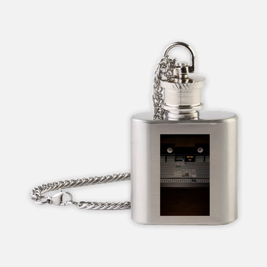 mixing console Flask Necklace