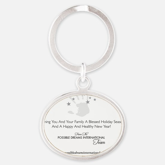 PDI Holiday Card PDI Greeting Oval Keychain