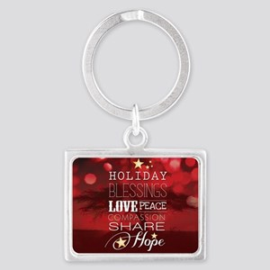 PDI Holiday Card w/ words (Red  Landscape Keychain