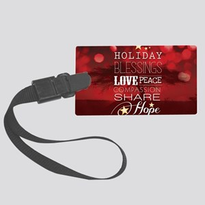 PDI Holiday Card w/ words (Red C Large Luggage Tag