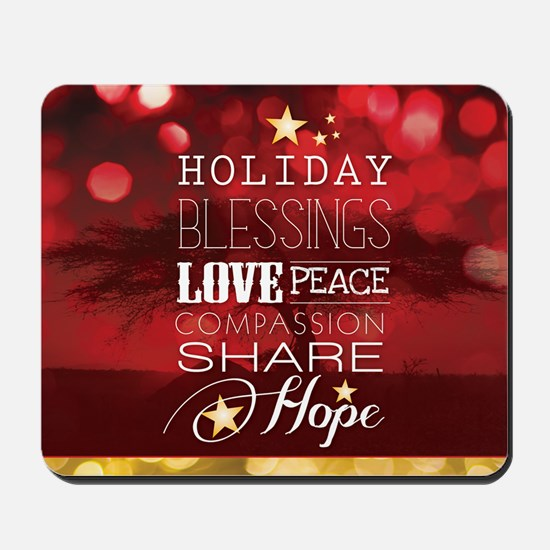 PDI Holiday Card w/ words (Red Cover) Mousepad