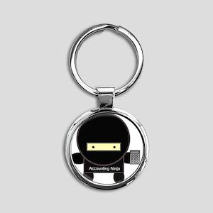 accounting-ninja Round Keychain