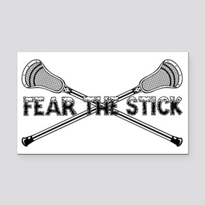 Lacrosse_FearTheStick Rectangle Car Magnet