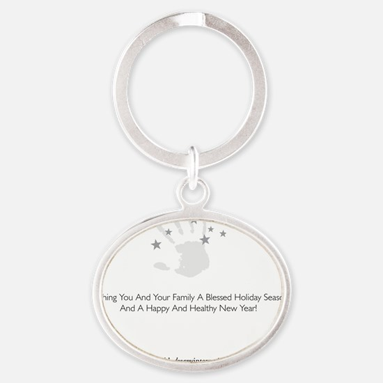 PDI Holiday Card General Greeting Oval Keychain