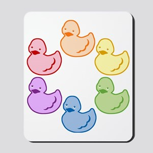 duckie-rainbow-row_tr2 Mousepad