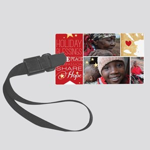 PDI Holiday Card w/ words  pictu Large Luggage Tag