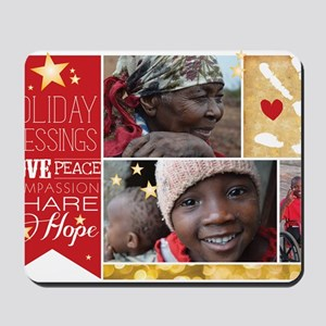 PDI Holiday Card w/ words  pictures Mousepad