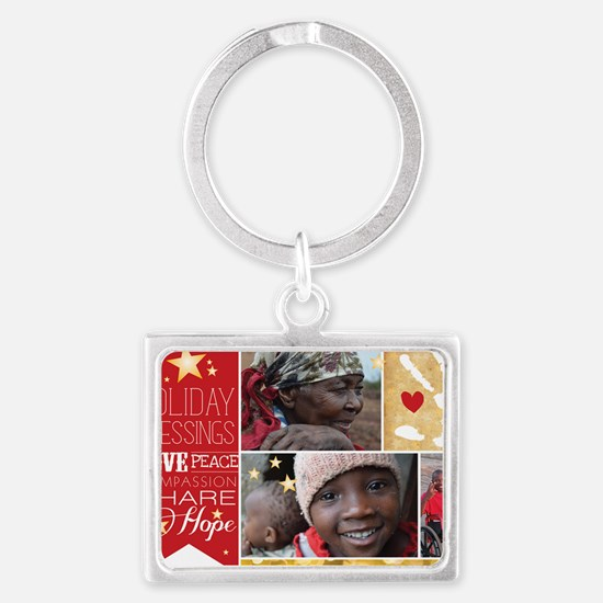 PDI Holiday Card w/ words  pict Landscape Keychain