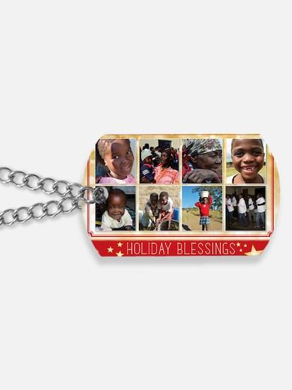 PDI Holiday Card Holiday Blessings w/ 8 p Dog Tags