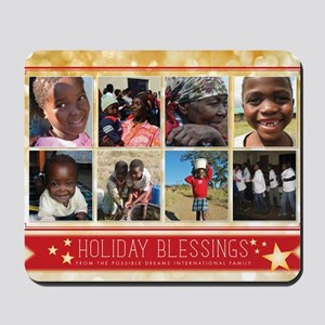 PDI Holiday Card Holiday Blessings w/ 8  Mousepad