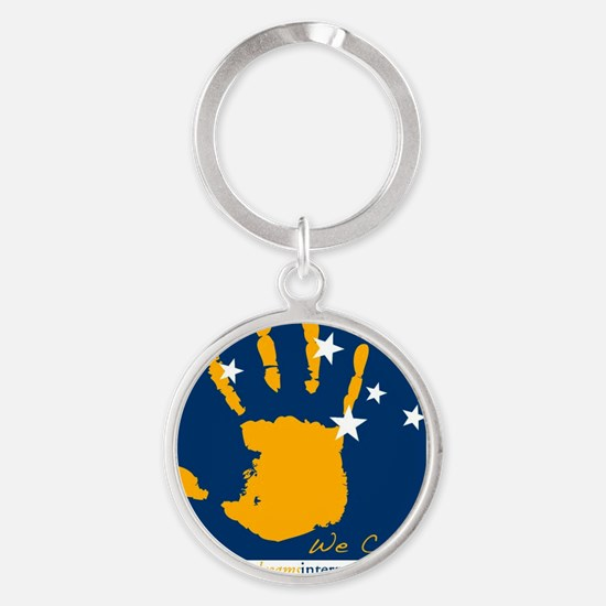 PDI Hand We Can website Round Keychain