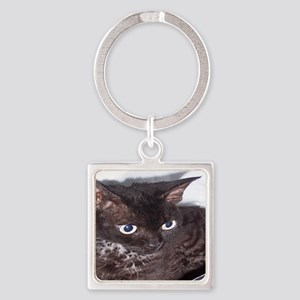 Cat-PJs-1 Square Keychain