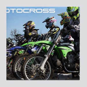 MotoCross Calendar Cover Tile Coaster