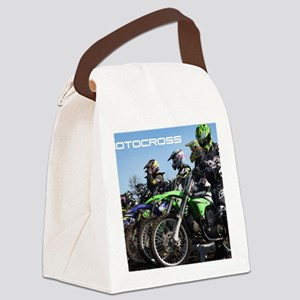 MotoCross Calendar Cover Canvas Lunch Bag