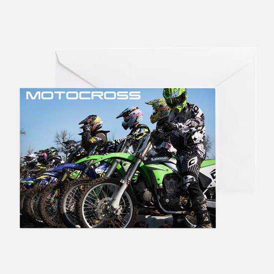 MotoCross Calendar Cover Greeting Card