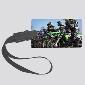 MotoCross Calendar Cover Large Luggage Tag