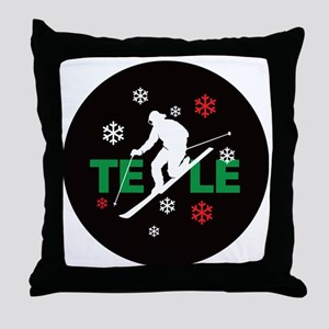 tele black Throw Pillow