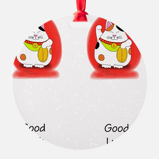 Good_Luck_Maneki_Neko_flipflop Ornament