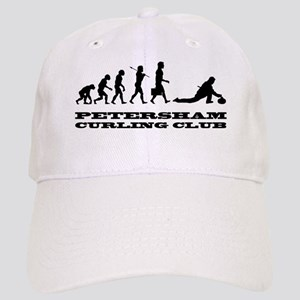 evolution of curling with large logo Cap