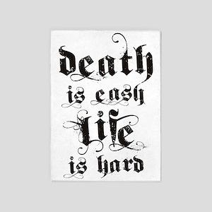 death life black 5'x7'Area Rug