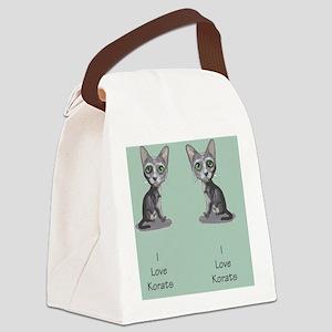 Korat_caricature_flipflops Canvas Lunch Bag