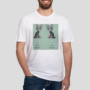 Korat_caricature_flipflops Fitted T-Shirt