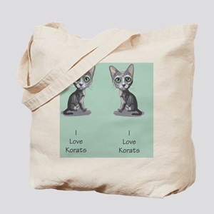 Korat_caricature_flipflops Tote Bag