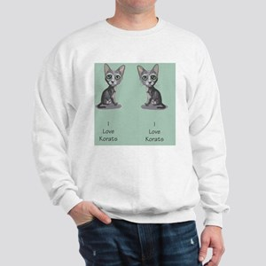 Korat_caricature_flipflops Sweatshirt
