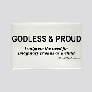 Godless & Proud Rectangle Magnet