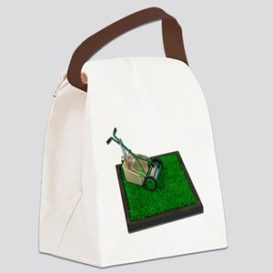 LawnmowerOnTheGrass100711 Canvas Lunch Bag