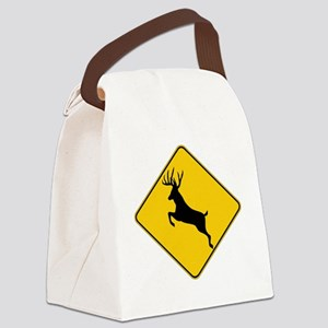 Whitetail caution Canvas Lunch Bag