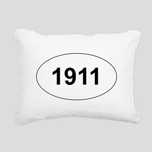 1911 Rectangular Canvas Pillow