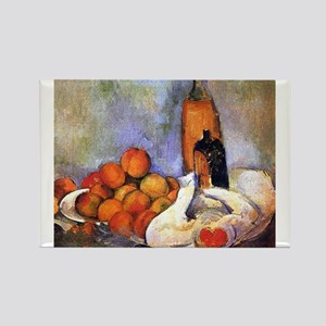 Still life with bottles and apples - Paul Cezanne