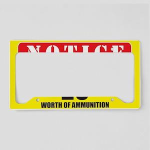 $20 ammunition License Plate Holder
