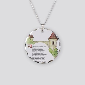 The Bridge We Call Love Necklace Circle Charm