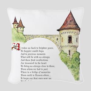 The Bridge We Call Love Woven Throw Pillow
