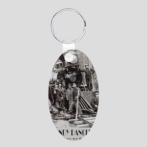 GANDY Aluminum Oval Keychain