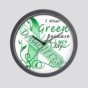 I Wear Green Because I Love My Daughter Wall Clock