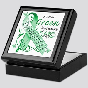 I Wear Green Because I Love My Daught Keepsake Box